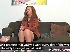 Hot brunette amateur babe with a big ass part3