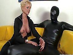 blond caucasien couple femdom