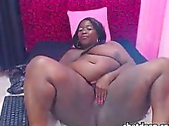 Black BBW With Some Thick Dildos