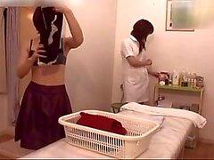 dedilhado japonês lésbicas massagem