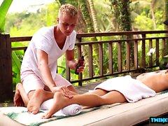 Russian twinks footjob with massage