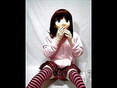 Kigurumi Girl in Breathplay uses Vibrator