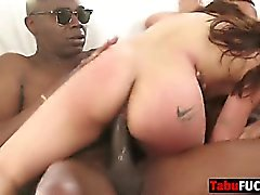 Mila Jade Jon Jon in my sisters first interracial gang bang