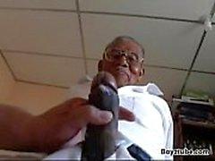 Old black grandpa fuck white fatty