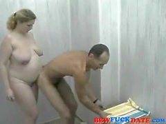 BBW washed by her boyfriend then she bouncing