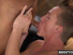 Big dick boyfriend oral sex with cumshot