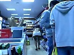 Dark Woman Flashing In Public At A Store