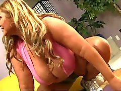 Hot Big Jugged Mama Sam Gets A Workout