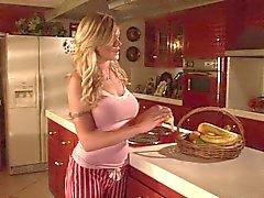 man versus woman pmv (horny blonde jills off with banana)
