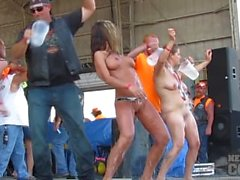 abate 2013 cougar and badass milf wet tshirt contest at iowa biker rally