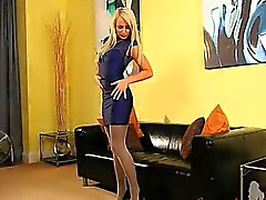 fairhair in incredible nylon pantyhose