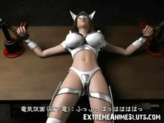 3D Busty Superhero Pulverized by a Criminal!