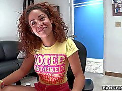 Curly Teen Mercedes Cash has arousing interview