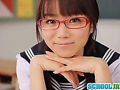 amateur asiático bebé digitación gafas