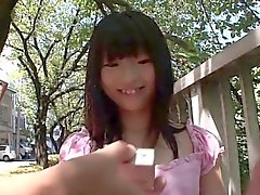 Oriental teen stimulated with vibrating toys