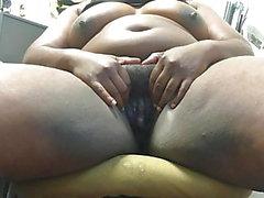 bbw gran culo negro parpadea