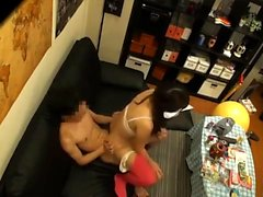 Asian babe amazing POV cock sucking