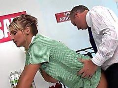 Two busty blonde nurses pleasure a dick