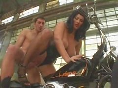 Monster Saggy Tits Biker Chick Assfucked leather stockings
