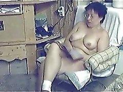 Even older women get caught masturbating!
