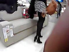 upskirts meias piscando nudez em público