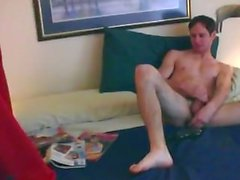 Stud Caught Jerkin Off, Roommate Fucks Him