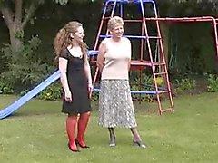 amador britânico lingerie softcore meias