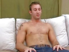 Gay hunk measured on casting