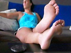 Donna Queen Sexy Barefeet