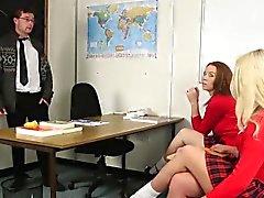 Uniformed mistress mocks