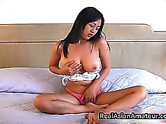 Irresistable busty asian cutie dildo