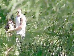 pijpbeurt bos verborgen camera 's