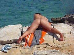 praia masturbação voyeur