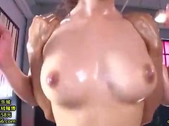 Japanese fetish babe toyed before doggystyle