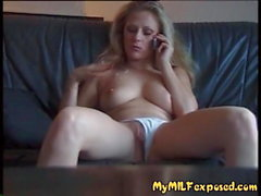 My MILF Exposed Sexy slim with with clean shaved pussy playi