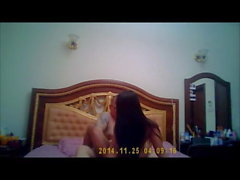 Thai girl big tits riding and doggy