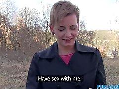 PublicAgent Short haired women fucks stranger