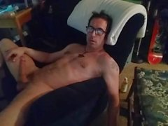 Lonely Guy Swivel Chair Cock Play till Orgasm