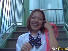 Uniform asian rubs vag