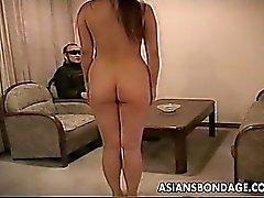 Guy trains his sexy curvy slavegirl