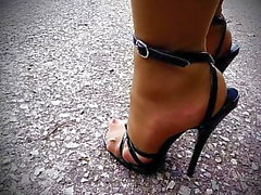 noir et ébène fétichisme des pieds nylon