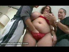 Husband Shares His Big Tit BBW Wife With Latin Neighbor