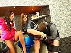 Pissing fetish glamour bar pee drinking