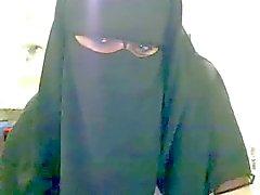 Hijab Woman showing her big tits