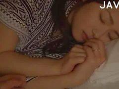 Sleeping Busty Babe Gets Bush Fingered