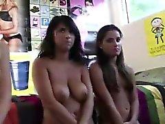 Amateur teen girls play games for lesbian sorority