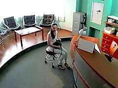 Sexy patient fucked in waiting room in fake hospital
