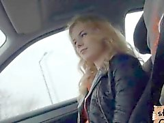 Little Russian hitchhiker fucks like a pro