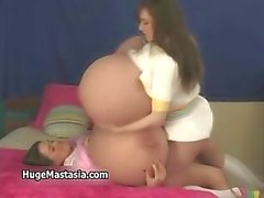 Two hot brunette babes go crazy rubbing part5