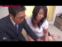 gorgeous japanese milf fucked rough at home movie